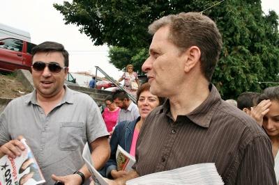 Pedro Soares com a população de Amares