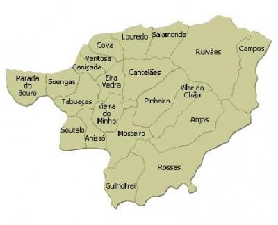 mapa das freguesias de braga BE de Vieira do Minho contra a extinção de freguesias   Bloco  mapa das freguesias de braga